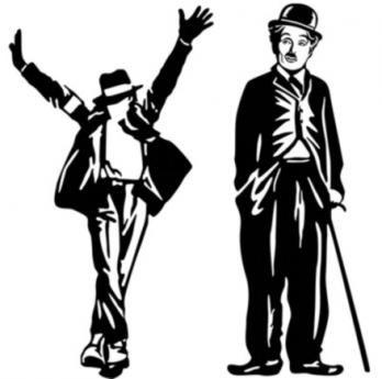 Figuras Jackson y Chaplin 70 cm H x 40 cm W Aprox. $85.000