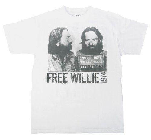Willie Nelson - Free Willie T-Shirt $16.95 #bestseller