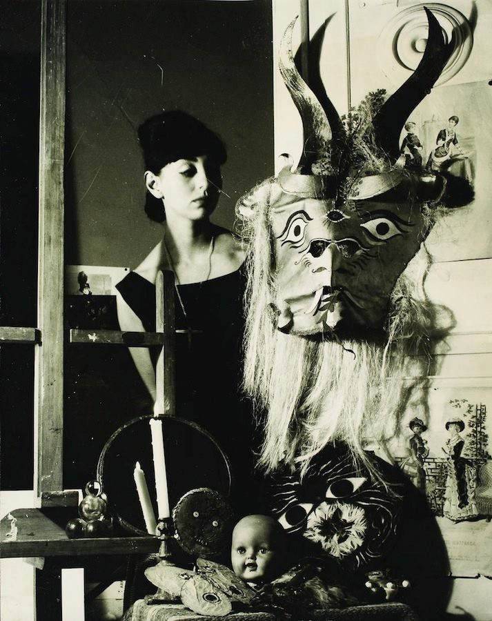 Kati Horna. Woman with Mask, Mexico 1963.