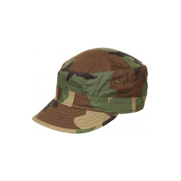 US Army Camouflage Cap ❤ liked on Polyvore featuring accessories, hats, army hat, camoflage hat, camouflage army hat, army camo hat and camouflage hats
