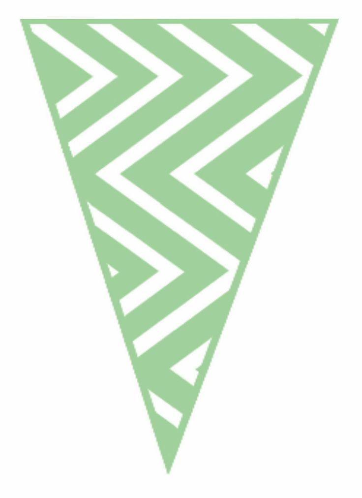 free green chev banner printable