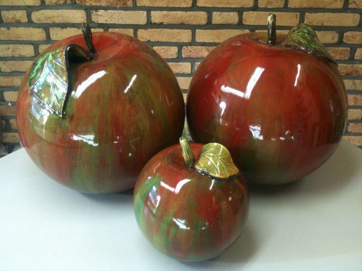 Ceramic apples autumn, keramiek appel herfst