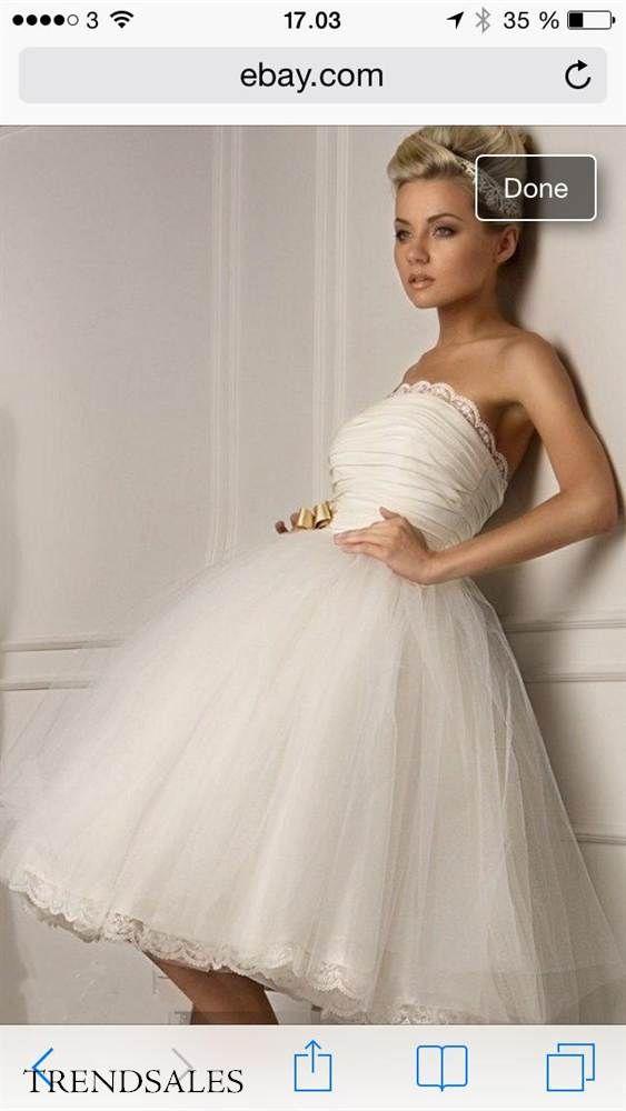 Syerske - Brudekjole , kort, konfirmations kjole