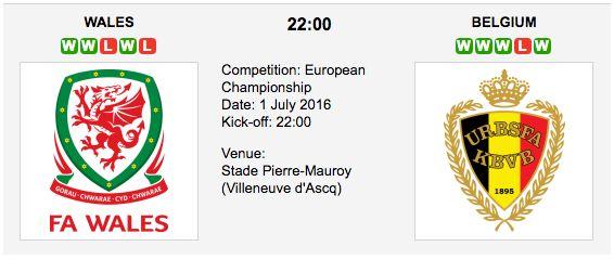 Wales vs Belgium - Euro 2016 Quarterfinals