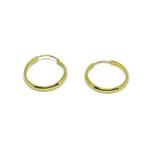 7cd65a9c1ba69 Brinco de argola de ouro 18k redondo 14,85mm   Argola de ouro ...