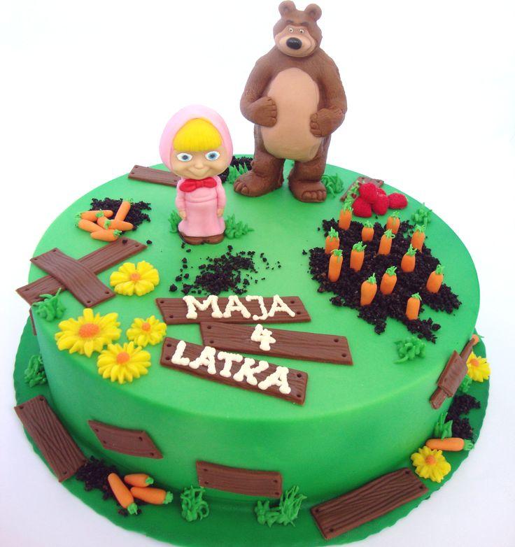 Torty Kraków Tort urodzinowy - Cukiernia Gateau Tort Masza i Niedźwiedź #Masza #Niedzwiedz #cake, #tort, www.cukierniagateau.pl