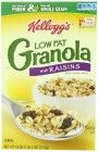 Kellogg's Granola with Raisins, Low Fat, 18-Ounce Boxes (Pack of 5)