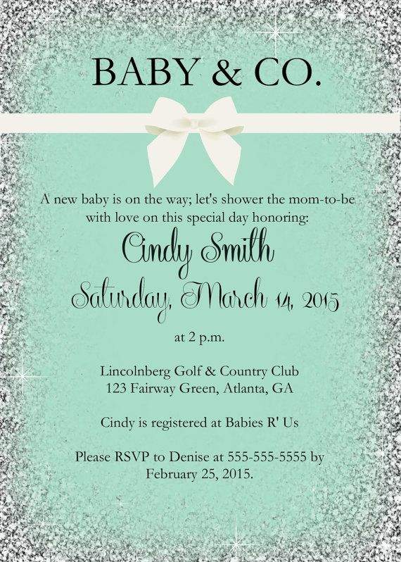 Printable Baby and Co baby shower/ Baby Shower Invitation/