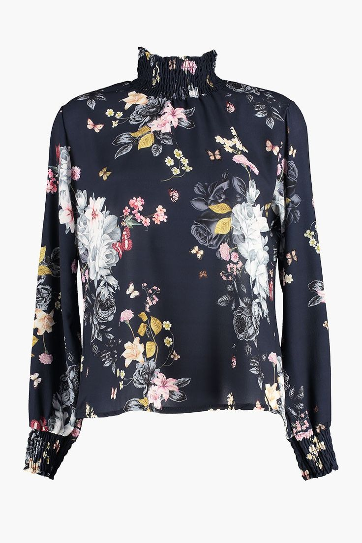 Bluse Juliet Butterfly Navy fra Floyd by Smith