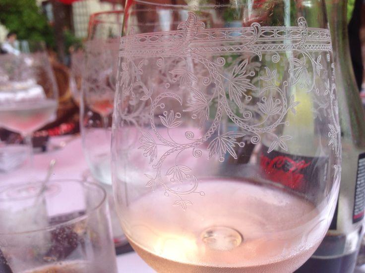 Beautiful wine glasses @ the Saint Paul hotel and great wine !