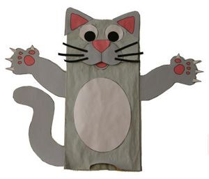 how to turn bag into diaperbag | Crafts for Kids Blog » Tutorial : Paper Bag Cat Craft