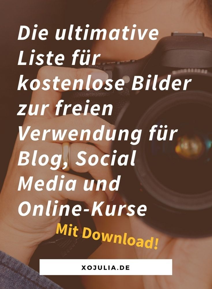 Die ultimative Riesenliste für kostenlose Fotos für Blog, Social Media und Online-Kurse – Social Media Tipps