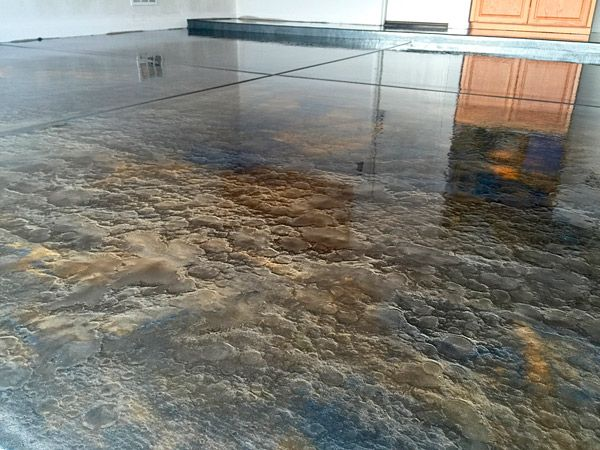 brown gold metallic epoxy floor