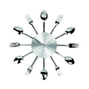 Nástěnné hodiny s vidličkami a lžícemi, 37 cm