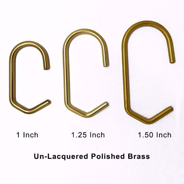 Brass Shower Curtain Rings Set Of 12 With Images Elegant