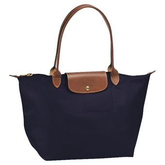 Longchamp Le Pliage bag in navy - my go-to everyday bag... great quality and very spacious!
