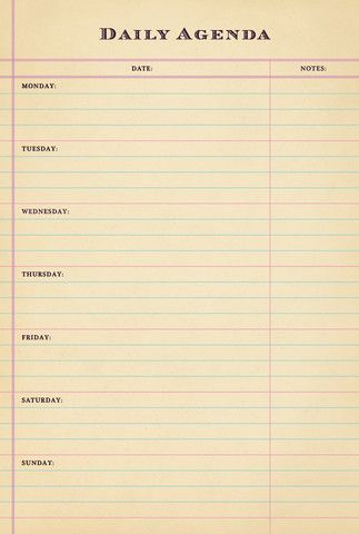 Best  Daily Agenda Ideas On   Agenda Planner Daily