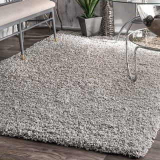 nuLOOM Alexa My Soft and Plush Solid Silver Shag Rug (8' x 10') | Overstock.com Shopping - The Best Deals on 7x9 - 10x14 Rugs