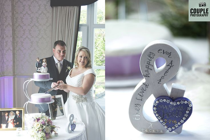 The bride & groom cut the cake. Weddings in Mayo, Photographed by Couple Photography.