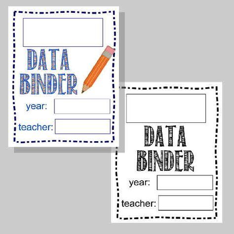 Student Data Binder for Tracking Progress in the Classroom FREE from The Curriculum Corner   editable forms