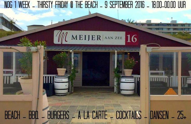 >>UPDATE<< Nog slechts 1 week te gaan tot Thirsty Friday - Beach Edition! De early bird kaarten zijn nu uitverkocht maar wel zijn er nog groepskaarten a 7,50 (vanaf 3 personen) en normale tickets te verkrijgen via http://tinyurl.com/thirstyfridaybeach  Wij hebben er zin in, goed weekend!
