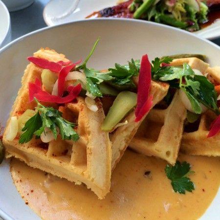 Best Hangover Cures: bone marrow waffles at Faith & Flower