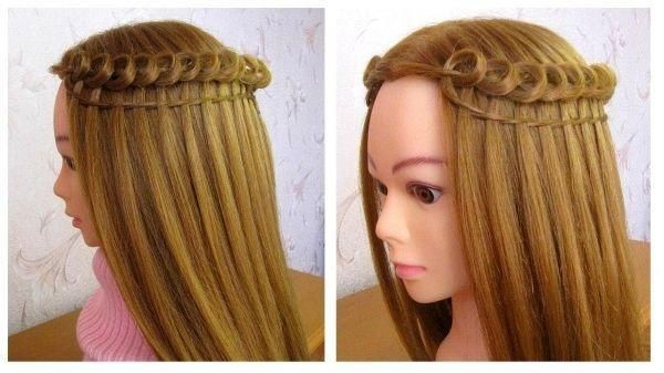 Hairstyle Tutorial Cascade Braid Easy To Do Loop Waterfall Braid Hair Styles In 2020 Braided Hairstyles Hair Styles Braids For Short Hair