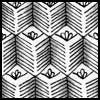 Zentangle pattern: Bandola