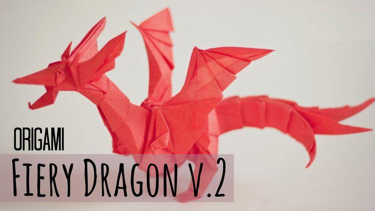 how to make an origami fiery dragon v2 kade chan