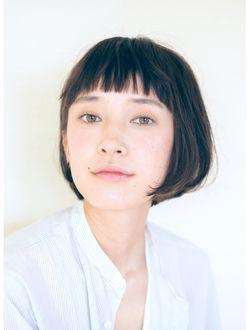バコ Baco. シンプルな黒髪ショートボブ【Baco.】