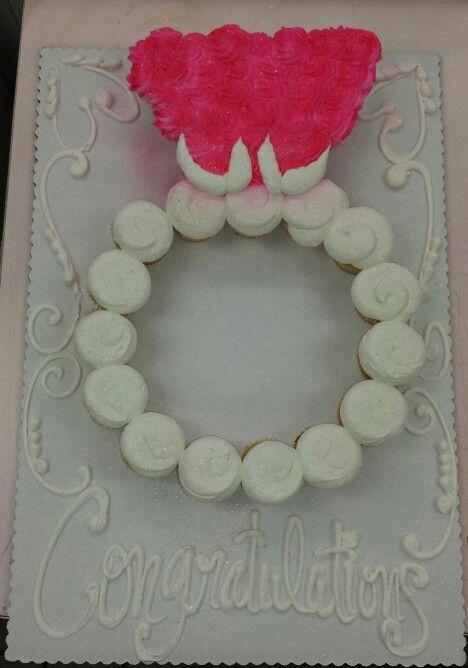 Wedding ring cupcake cake (24 count)