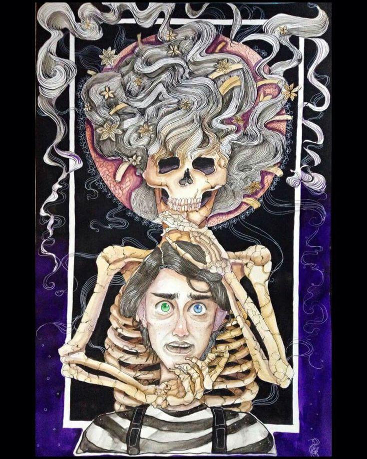 -Magician Bones 2018- 50/70 m paper  Mixt tehnique - watercolor, ink