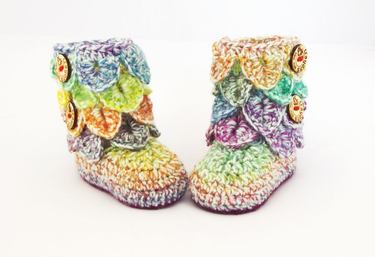 Crochet Pattern: Dragon Scale Booties by Crayons for sale on http://hellopretty.co.za