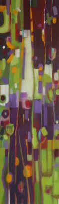 www.jenniferweber.ca 'SPICY GREENS', oil painting, original artwork, art, green, purple
