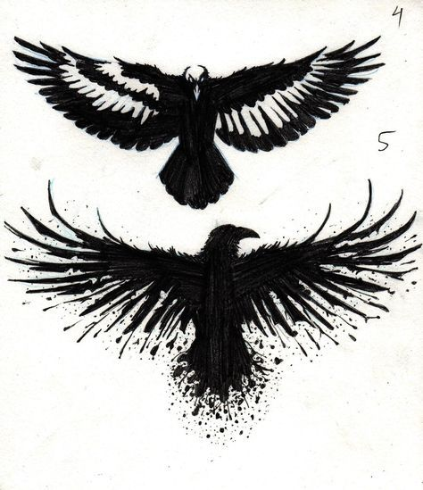 Crow Tattoo Designs by marcAhix