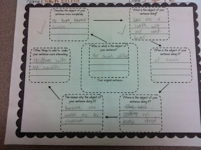 Rockin' Teacher Materials: Expanded Sentence Examples  Organizer to create complex sentences  NEED THAT!