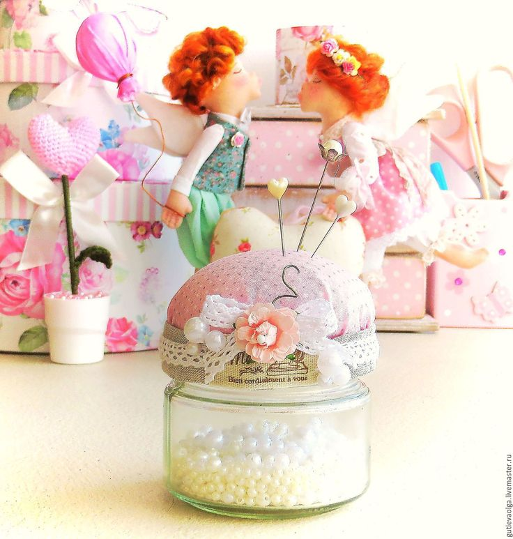 Купить Игольница-шкатулка - розовый, сувенир, игольница, игольница-шкатулка, шкатулка, розовый в горошек, горошек