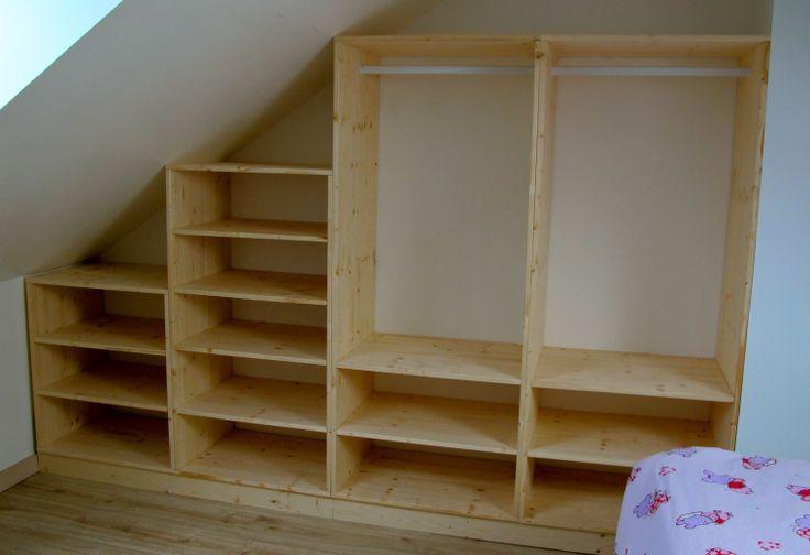 1000 id es propos de placard sous pente sur pinterest. Black Bedroom Furniture Sets. Home Design Ideas