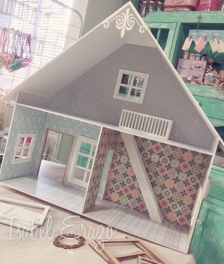 Proceso casa de muñecas , dollhouse handmade
