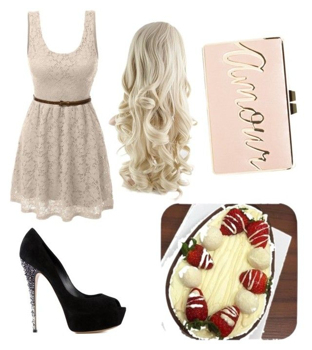easter day forever by vanslover17 on Polyvore featuring polyvore fashion style LE3NO Casadei BCBGMAXAZRIA clothing