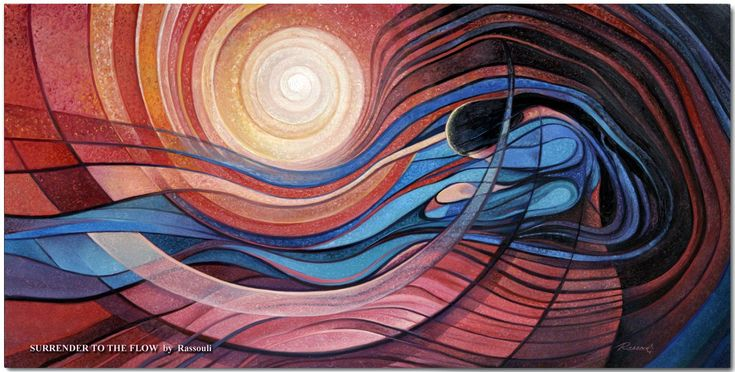 Surrender to the Flow, an abstract painting art by Rassouli