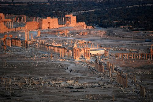 Sunset over Palmyra from the Qala'at ibn Maan castle, Syria  - Find the latest news about bible prophecy and how it is being fulfilled today. Find out why many say we are in the last days. Check out  Obama News Report at  http://www.obamanewsreport.com/sunset-over-palmyra-from-the-qalaat-ibn-maan-castle-syria/.