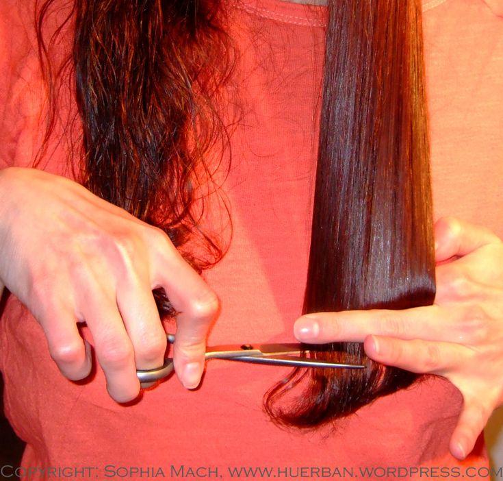 Haare selbst schneiden Step 1