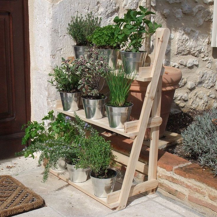 Details About 3 Tier Wooden Flower Stand Herb Plant Pot