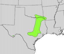 https://en.wikipedia.org/wiki/Maclura_pomifera, Natural range of M. pomifera in pre-Columbian era America.
