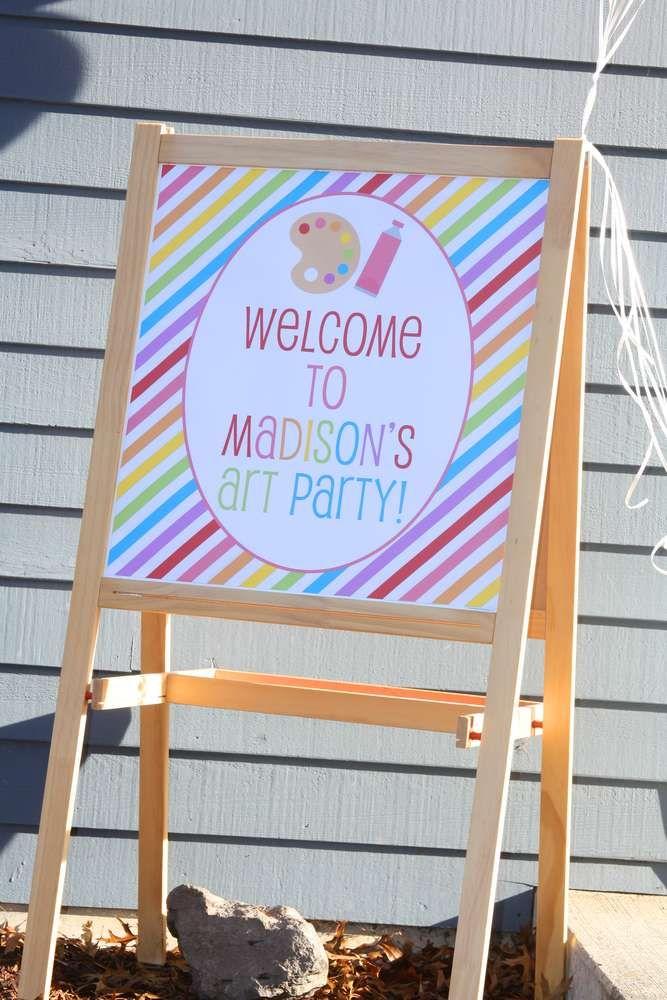 Rainbow Art Birthday Party Ideas   Photo 1 of 21   Catch My Party