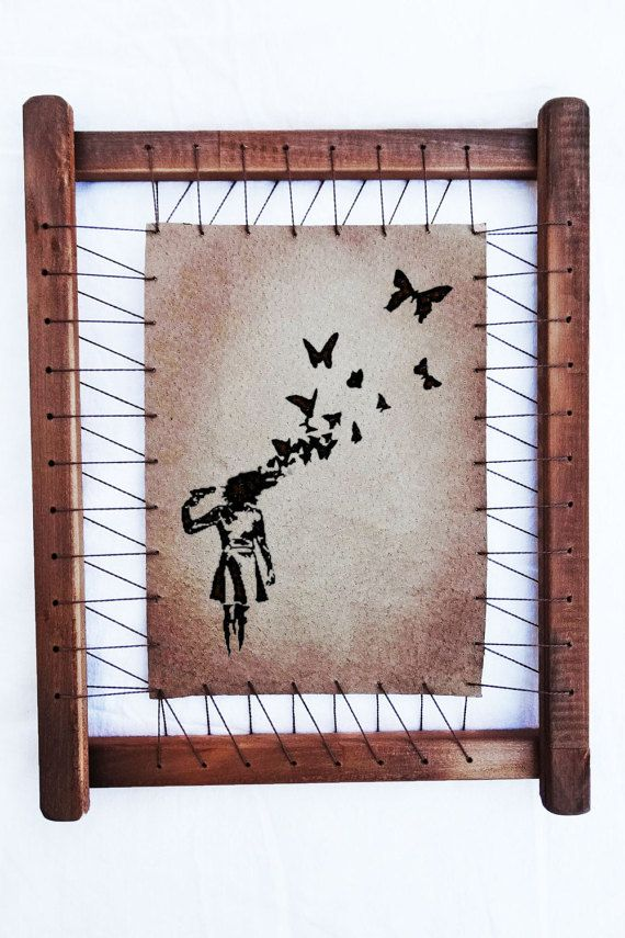 Banksy Prints Butterfly Headshot Wall Decor Banksy Canvas