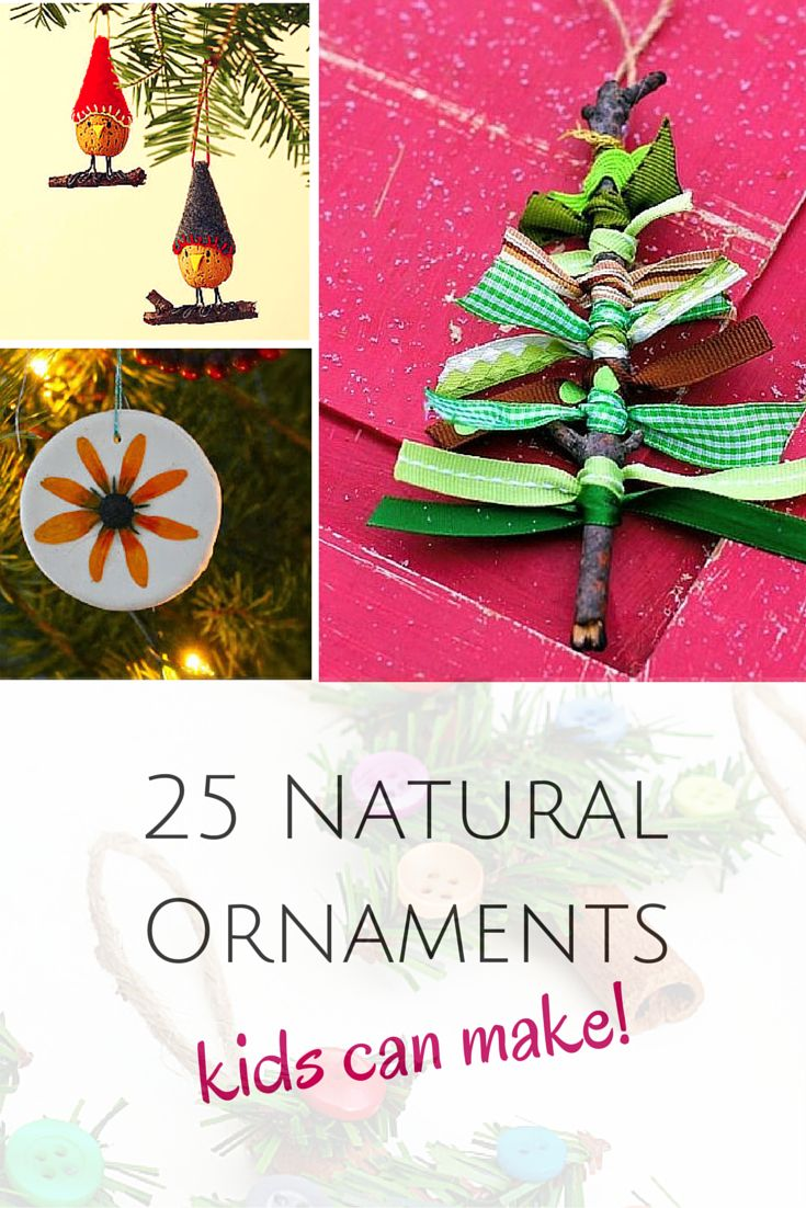 Outside ornaments - 25 Natural Ornaments That The Kids Will Love To Make We Had So Much Fun Collecting Materials Outside For These