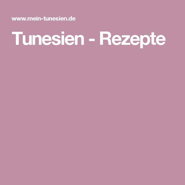 Tunesien - Rezepte