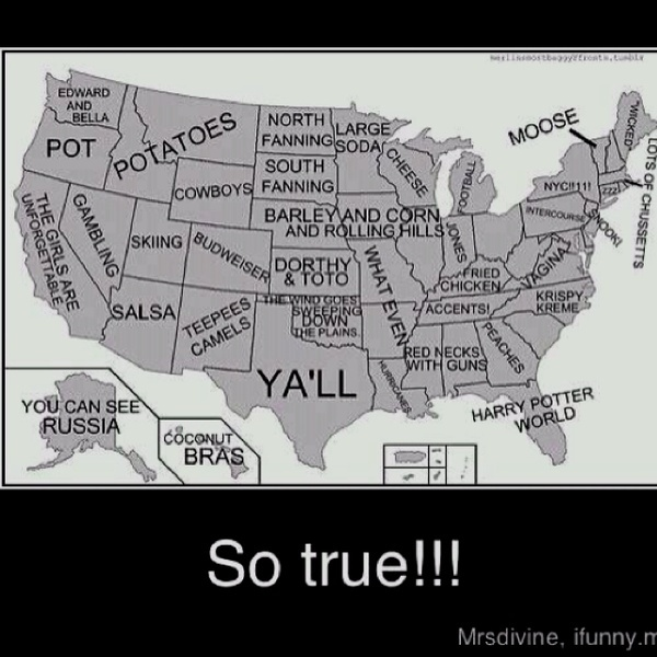 Excuse Me Stereotypical Map Of The U S Although I Live In Mississippi I Am